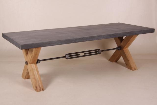 tafel met beton blad
