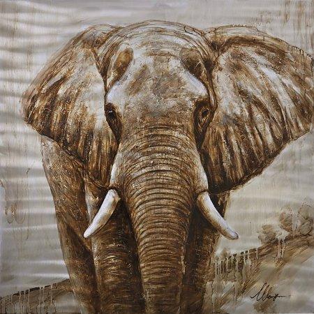 Handgeschilderd schilderij olifant sorry verkocht for Schilderij olifant